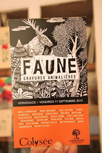 invitation faune & gravure - colysée