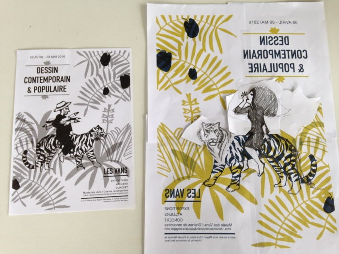 dessin contemporain & populaire 2016 - impression affiche