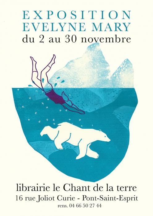 expo chant de la terre - plongeon - ours blanc