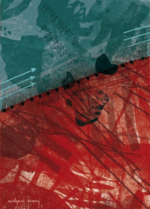 géologie imaginaire de l'ardèche - faille d'orcières